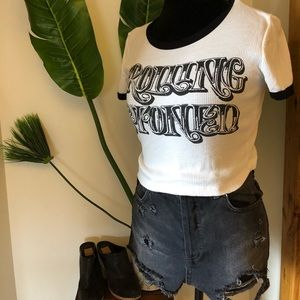 Tops - Rolling Stoned Ringer Tee